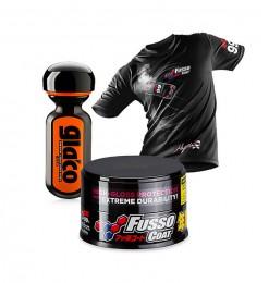 Soft99 New Fusso Coat 12 Months Wax Dark + Ultra Glaco + T-Shirt Grösse M Gratis!