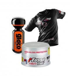 Soft99 New Fusso Coat 12 Months Wax Light + Ultra Glaco + T-Shirt Grösse L Gratis!